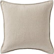 Muji Washed Linen Cushion Cover, 43 x 43cm, Ecru
