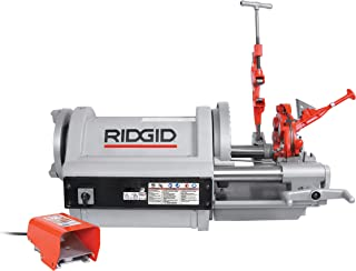 RIDGID 26092 Model 1224 Pipe Threading Machine, 36/12 RPM Pipe Threading Machine with Hammer Chuck, 1/2-Inch to 4-Inch Pipe Dies and NPT Threading Die Head