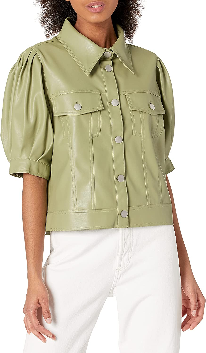 KENDALL + Sale SALE% OFF San Jose Mall KYLIE Women's Puff Button Top Sleeve Down