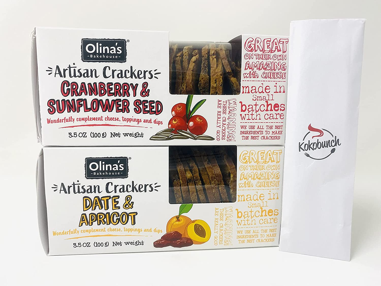 Olinas Bakehouse Artisan Fees free Crisps Max 80% OFF Cracker Cranberry Pack Variety