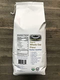 Healthy FuFu Organic Whole Oat Flour - Top Grade Finely Ground Oat Flour - Kosher - 10 lb