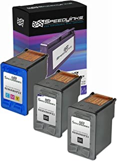 Speedy Inks Remanufactured Ink Cartridge Replacement for HP 21 and HP 22 (2 Black and 1 Color, 3-Pack)