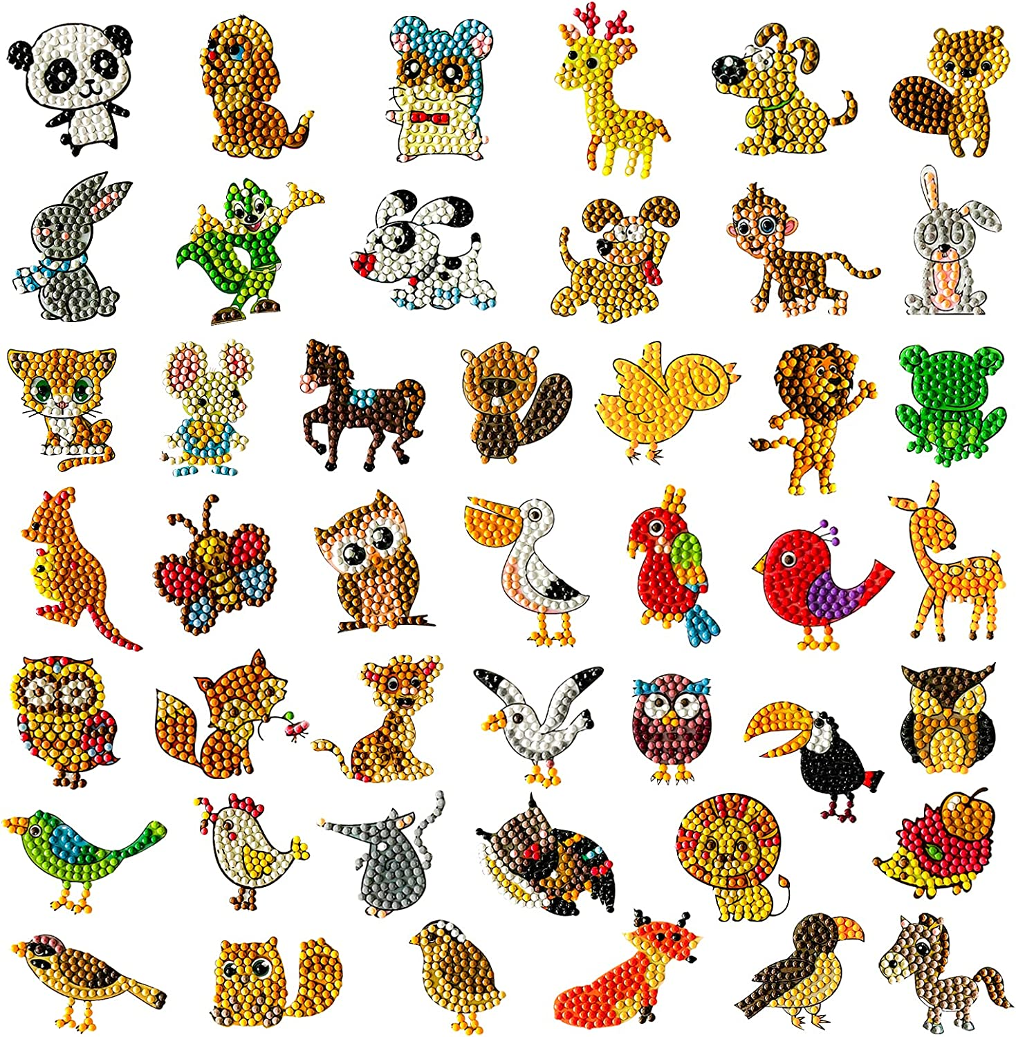 45Pcs 5D Diamond Painting Stickers FODIENS Creati for Kids Limited time cheap sale Max 70% OFF Kits
