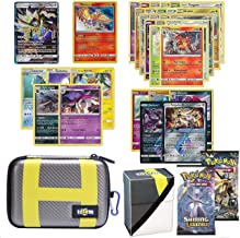 Totem World Pokemon Cards GX Lot with Ultra Ball Theme Carrying Case! Includes 1 GX Card Guaranteed, 2 Booster Pack, 5 Rares, 5 Holos, 20 Regular Pokemon Cards, and Deck Box