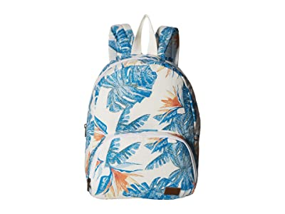 Roxy Always Core Canvas Backpack (Bright White/Midnight Paradise) Backpack Bags