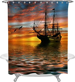 Best pirate ship shower curtain Reviews