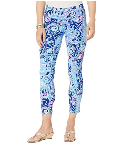 Lilly Pulitzer UPF 50+ Midi Leggings (Lapis Lazuli Cosmic Kismet) Women