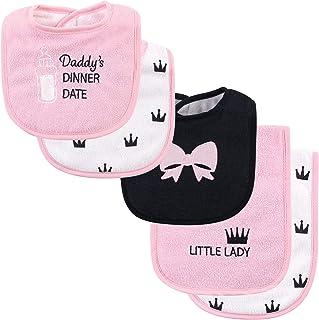 Hudson Baby Unisex Cotton Terry Bib and Burp Cloth Set