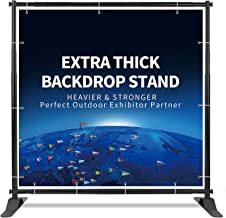 T-SIGN 5x7-8x10 ft Heavy Duty Backdrop Banner Stand, Thicker Professional Large Telescopic Display Step and Repeat Stand for Photography, Carry Bag