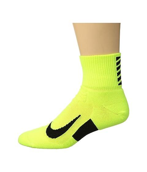 negro voltios Cushion Elite running Quarter Nike negro de Calcetines wYCq70zx
