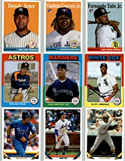 2019 Topps Archives Series Complete Mint 300 Card Basic Set LOADED with Stars, Rookies and Hall of Famers including Babe Ruth, Jackie Robinson, Derek Jeter, Mike Trout, Aaron Judge, Sandy Koufax, Nolan Ryan, Vladimir Guerrero Jr, Pete Alonso, Fernando Tatis and Many More
