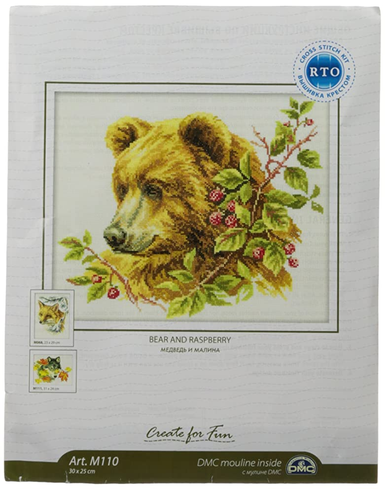 RTO M110 14 Count Bear Counted Cross Stitch Kit, 11.75 by 9.75-Inch