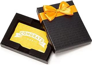 Amazon.com Gift Card in a Black Gift Box (Congratulations Icons Design)