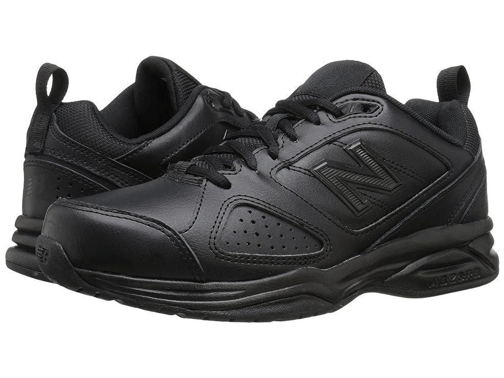 ロマンスビジターバッジ(ニューバランス) New Balance レディーストレーニング?競技用シューズ?靴 WX623v3 Black 5.5 (22.5cm) D - Wide
