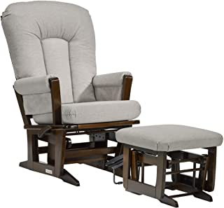 Dutailier Modern 0406 Glider Multiposition-Lock Recline with Nursing Ottoman Included