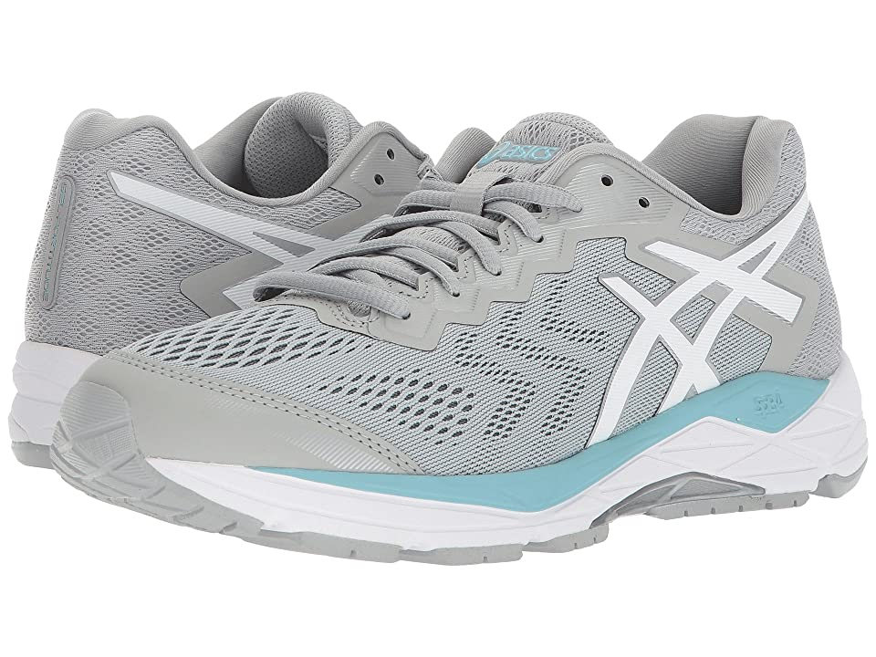 ASICS GEL-Fortitude(r) 8 (Mid Grey/White/Porcelain Blue) Women