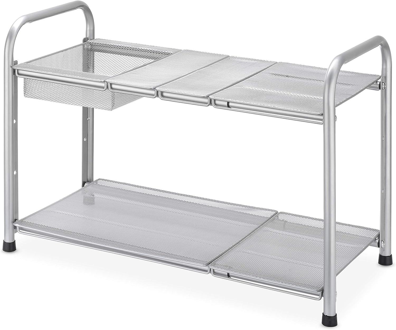 Whitmor Silver Mesh Expandable 5 ☆ popular Shelf Sink Under Financial sales sale