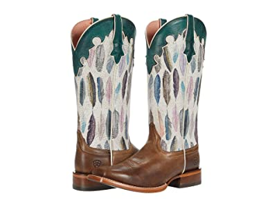 Ariat Fonda (Tucson Taupe/Watercolor Feather) Cowboy Boots