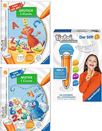 Ravensburger tiptoi er Set Der Stift + Mathe 1. Klasse + Deutsch 1. Klasse