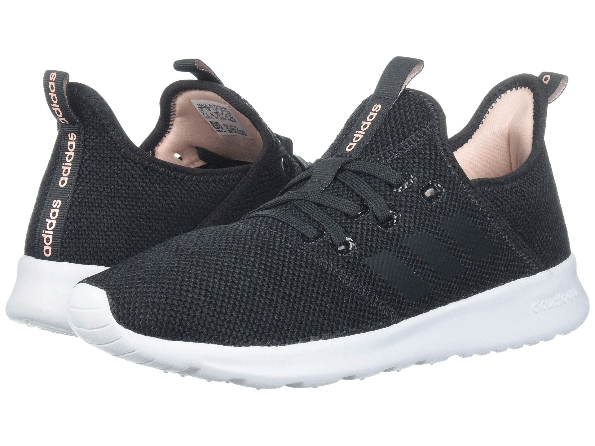 Adidas originali cloudfoam puro, carbonio - carbonio / haze coral modesens