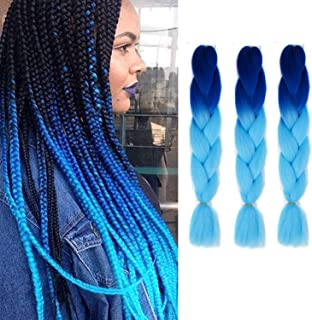 CXYP Ombre Jumbo Braid Hair 24 Inch Synthetic Braiding Hair 3 Pieces Kanekalon Braiding Hair Extensions