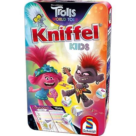 Trolls, Kniffel Kids, Bring Mich mit Spiel im Metalldose