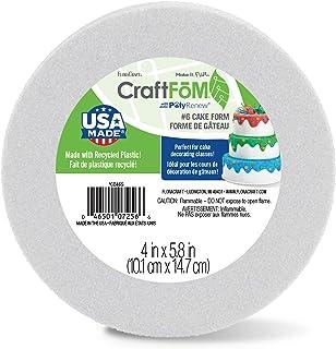 FloraCraft CraftFōM Round Cake Form 4 Inch x 5.8 Inch White