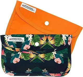 Cussi Mask Case-pack de 2 étuis rectangulaires pour masque (Orange, Tropical)