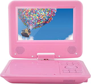 FENGJIDA 7.5'' Portable DVD Player, Built-in Rechargeable Battery, 270°Swivel Screen, 5.9 ft Car Charger SD Card Slot and ...