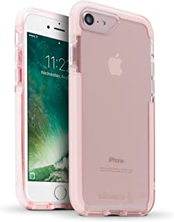BodyGuardz - Ace Pro Case for Apple iPhone 7 and iPhone 8 (Not Plus) Featuring Unequal Technology, Extreme Impact and Scratch Protection for Apple iPhone 7/8 (Not Plus) (Pink/White)