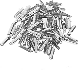 BCP 100 Pieces Shoelace Bullet Metal Tip Aglet Ends For Shoe Lace Tips Replacement DIY (Silver Color)