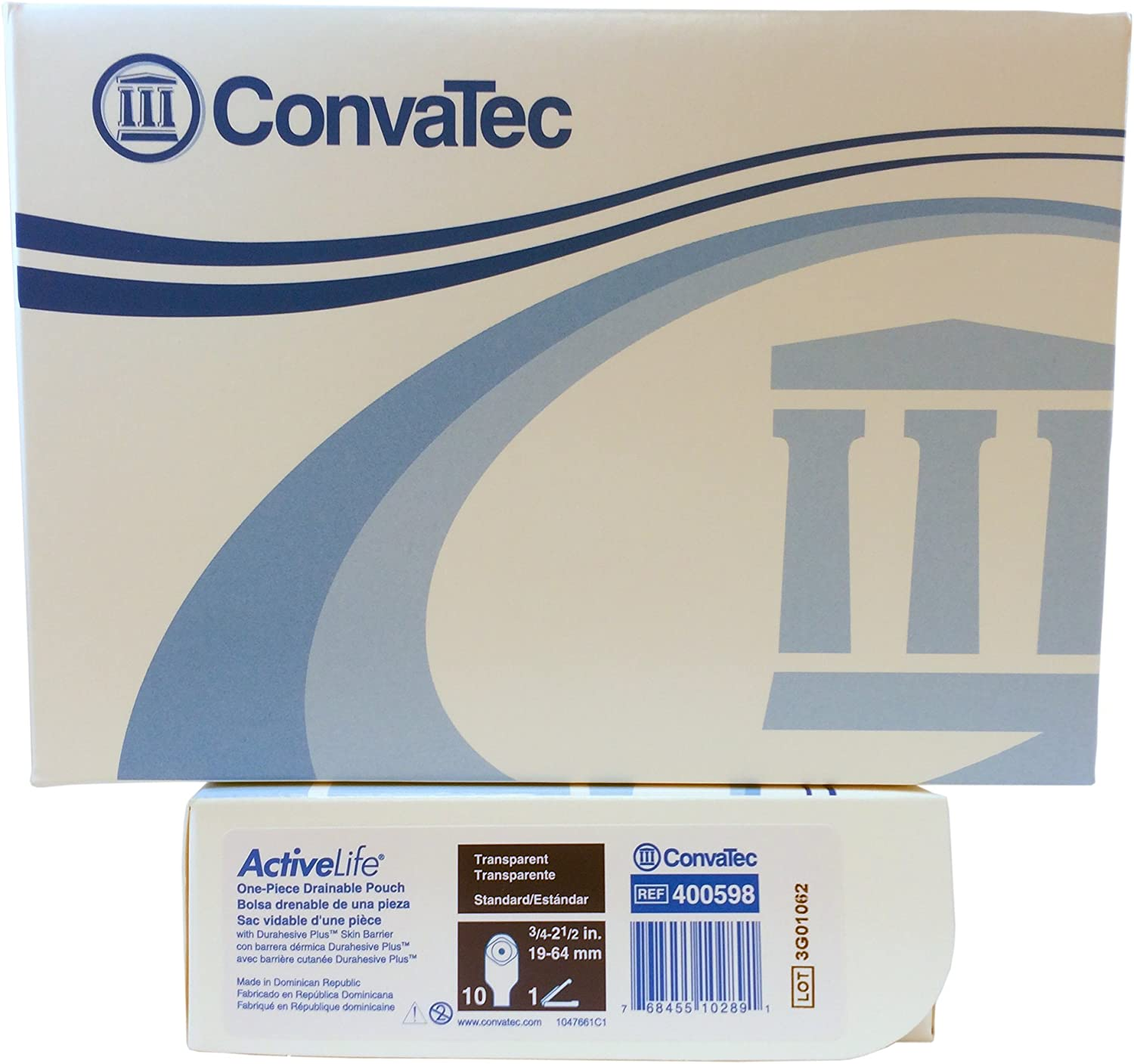 Attention brand Convatec Active Life 1 Piece Drainable Ranking TOP19 - o Box Pouch Transparent