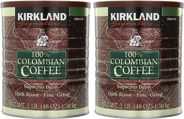 Signature 100 Colombian Coffee Supremo Bean Dark Roast Fine Grind 6 Pound Signature Ykgj