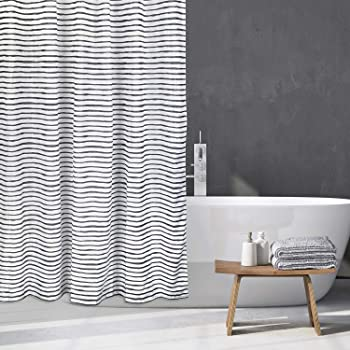 Varato Design Modern Shower Curtain Set with 12 Hooks Grey Shower Curtain 72 x 72 Inches
