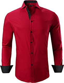 0628b96b500 Amazon.com: Reds Men's Dress Shirts