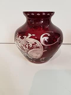 Best bohemian ruby glass vase Reviews