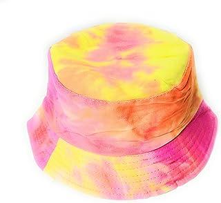 7890ecc7a4ac40 Wigwam Cool Reversible TIE DYE pattern Bucket hat - holiday festival sun  hats (Red)