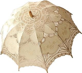 Jellbaby Vitt bröllop spets parasoll paraply viktoriansk dam kostym tillbehör brud fest dekoration
