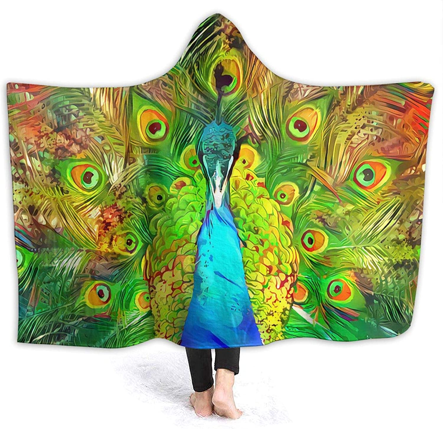 NYIVBE Abstract Peacock Feathers Outlet ☆ Free Shipping Hooded Courier shipping free shipping Soft Super Blanket Cozy