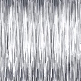 Sumind 4 Packs Photo Booth Backdrops Foil Curtains Metallic Tinsel Backdrop Curtains Door Fringe Curtains for Wedding Birthday Christmas Halloween Disco Party Favour Decorations (Matt Silver)