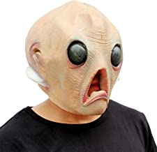 CreepyParty Alien Mask Halloween Head Masks Deluxe Novelty Halloween Costume Party Latex Head Mask Alien