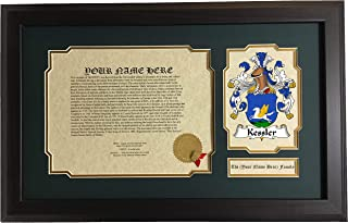 Kessler - Coat of Arms and Last Name History, 14x22 Inches Matted and Framed