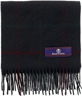 Prince of Scots Heritage Plaid Fringed Merino Wool Scarf