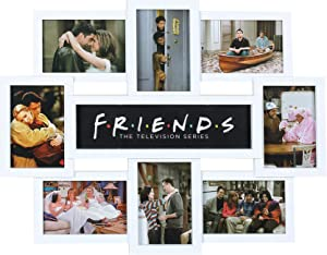 Friends 90s TV Show Series Themed Home Decorations   Framed 22x18 Picture & Photo Collage Wall Art Decor Posters & Merchandise Gift   Cool Multi Frame Bedroom & Living Room Poster Set for House Walls