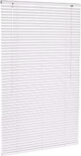 AmazonBasics - Persiana veneciana de aluminio, 80 x 130 cm, Blanco