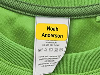 60 Clothing Tag Labels, Laundry Safe Labels for Clothing, Personalized with Your Name