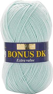 Hayfield - Laine pour Tricot Double Bonus DK -100g, Fil, Bleu Glace, 19 x 9 x 9 cm