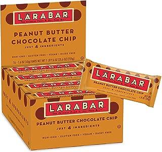 LÄRABAR Larabar Gluten Free Bar, Peanut Butter Chocolate Chip, 1.6 oz Bars (16 Count)