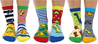 Sockasaurus - Juego de 6 calcetines para niño, 27-30 EU