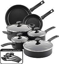 Farberware 10605 Advantage Nonstick Cookware Pots and Pans Set, 14 Piece, Black